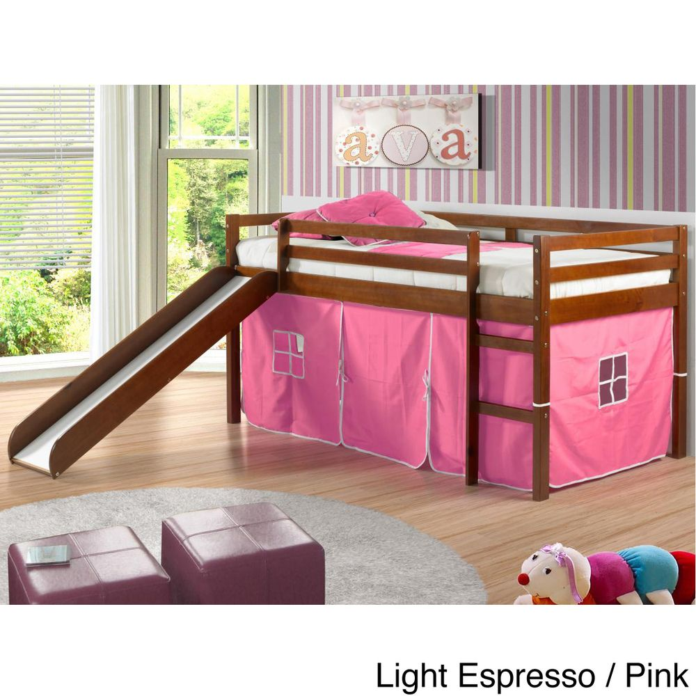 Slide for loft bed  Twin Size Tent Loft Bed with Slide and Slat Kit  Overstock