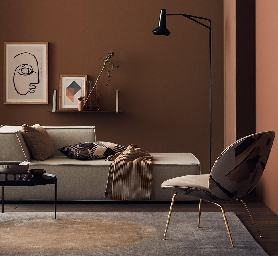 Bemerkenswert Wandfarbe Aubergine Ideen Von Ruheraum In Nougatfarben Und Graunuancen - Einrichten
