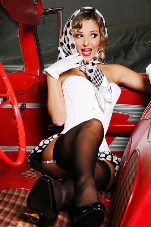 Pretty Modern Day Pin Up Pin Up Girls Retro Head Scarves
