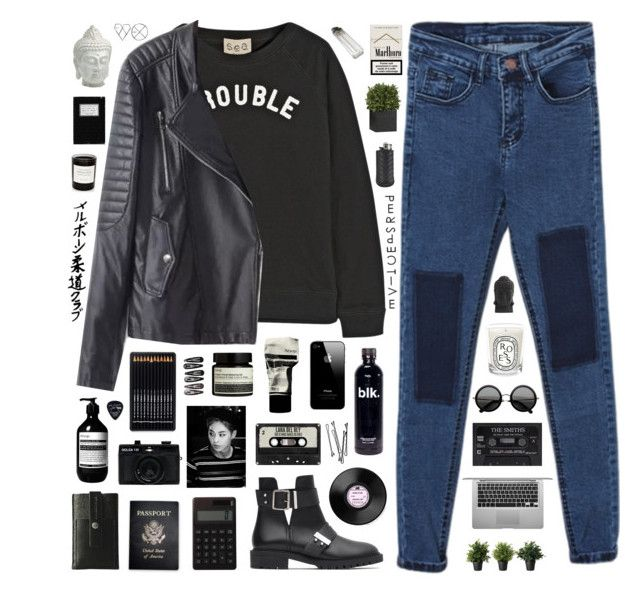 """the trembling feelings tell me nothing else is important."" by pure-and-valuable ❤ liked on Polyvore featuring Sea, New York, Zara, Muji, Passport, Aesop, Charbonize, Holga, Clips, The Row and Floyd"