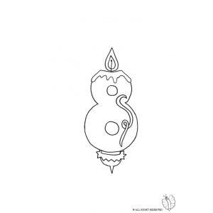 Disegno Di Otto Anni Candeline Compleanno Da Colorare Disegni Di