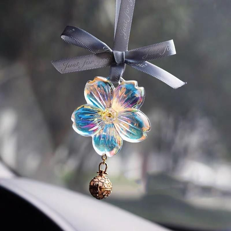 LUCKY CAR MIRROR CHARM WITH HANGING CHAIN CAR CHARMS REAR VIEW GIFT ACCESSORIES
