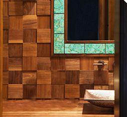 Ann Sacks Bosque Wood tiles. Love the color combination.