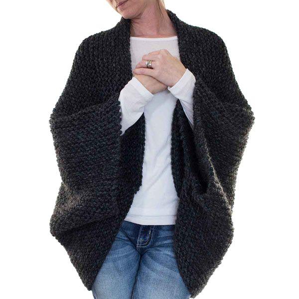{FREE} MEDITATION : Cocoon Blanket Sweater Knitting Pattern - Brome Fields #blanketsweater