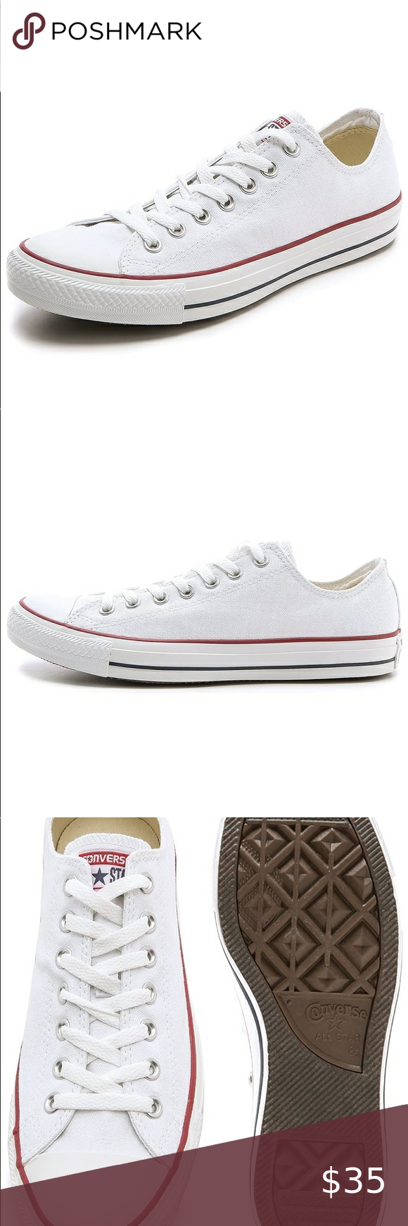 Size 10 White Converse Chuck Taylor Low