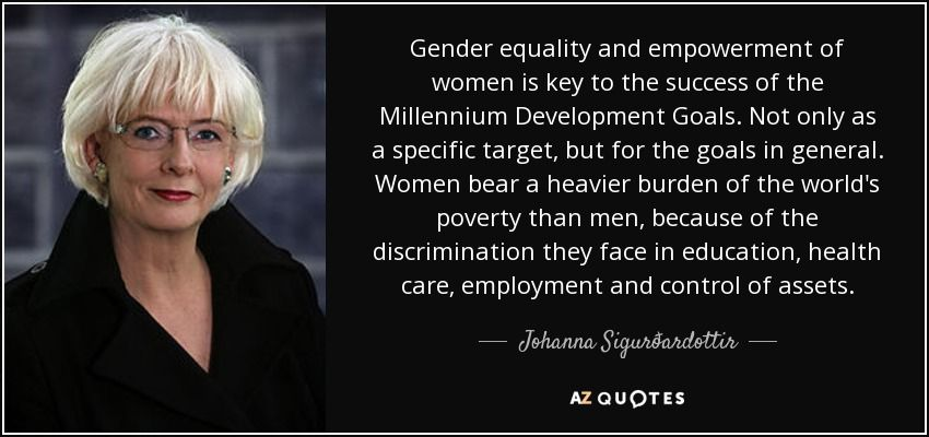 Gender Equality Quotes Amusing Johanna Sigurðardottir Quote Gender Equality And Empowerment Of