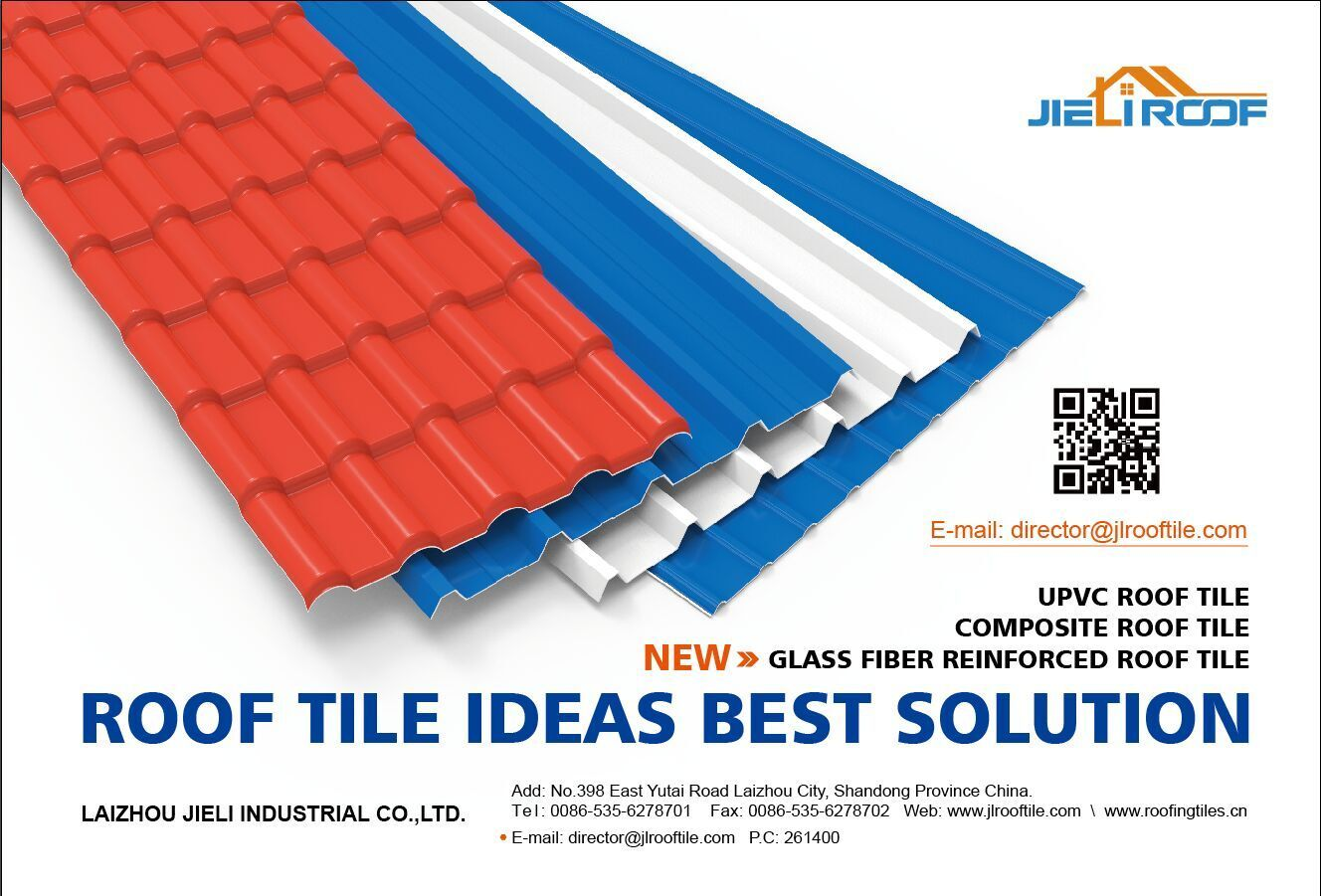 UPVC roof sheet for industrial building. Resin roof sheet