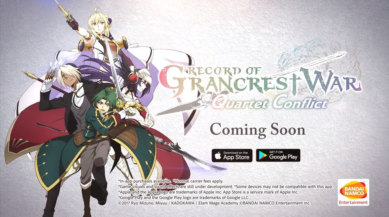 Record Of Grancrest War Android Game Coming This Fall War Games