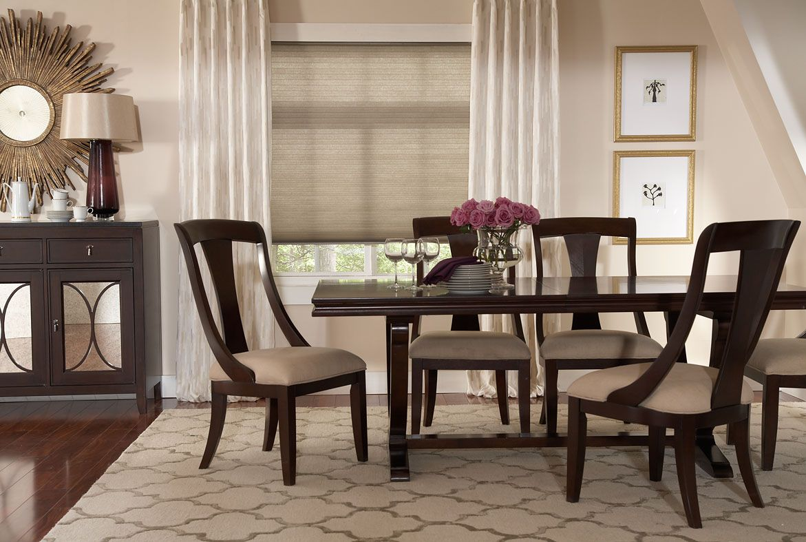 Custom Window Coverings Dining Room Window Treatments