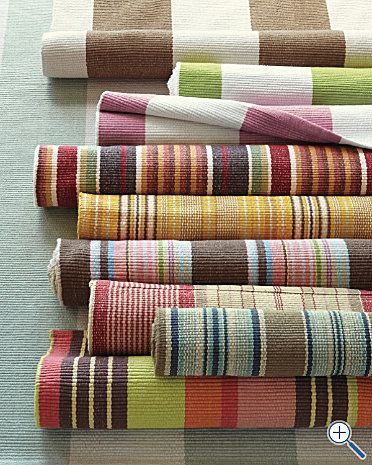 Cottage Stripe Cotton Rug Collection By Dash And Albert Yacht Ocean In 6 X 9