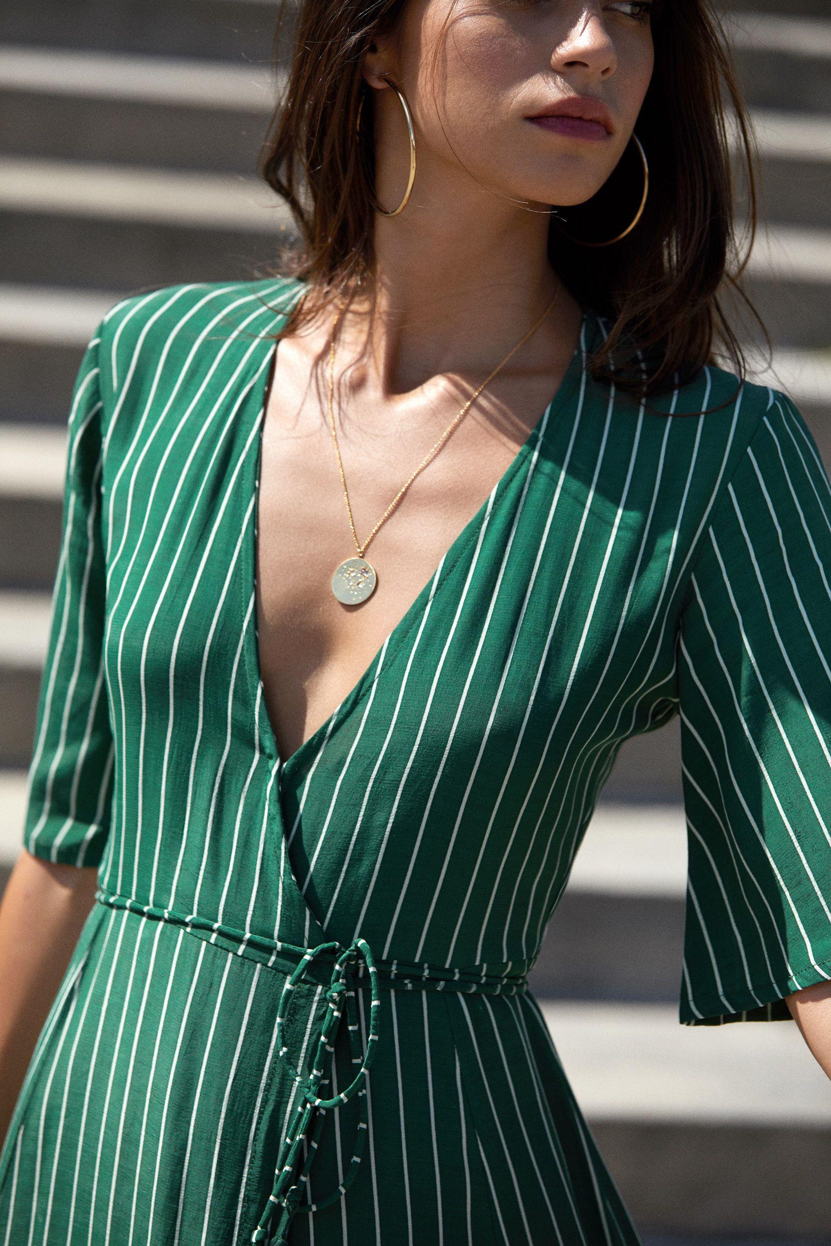 Faithfull Paseo Striped Wrap Dress Fashion Dressy Casual Outfits Womens Wrap Dress [ 2475 x 1650 Pixel ]