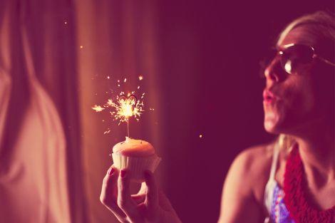 Bridal Shower Dessert Muddys Cupcakes Sparkler Heart Candle Kristen Archer Photography getarchd