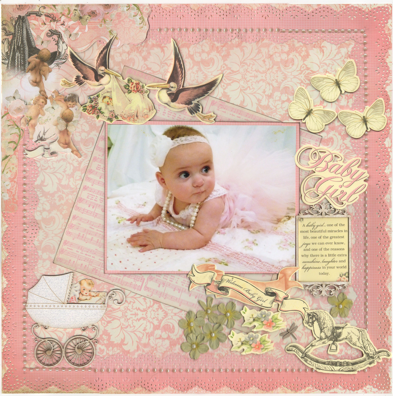 Baby girl scrapbook ideas - Baby Girl New Kaisercraft Scrapbook Com