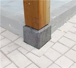 Fonkelnieuw Betonpoer incl. draadeind en stelplaat - Tuinafscheiding.nl | Tuin ZE-71