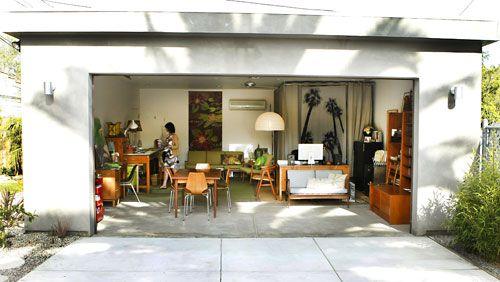 Garage as home office | Home, Garage makeover, Home decor