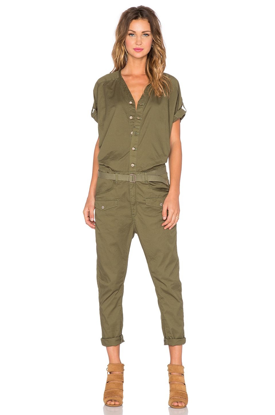53dfede0f3cf Current Elliott The Rosie Jumpsuit in Forest Field