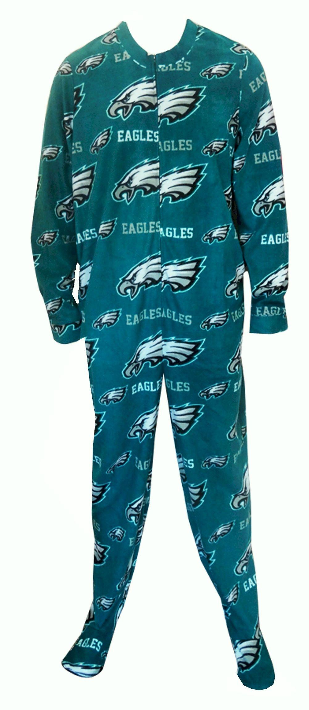 e61ae214 Philadelphia Eagles Guys Onesie Footie Pajama Show your team spirit ...