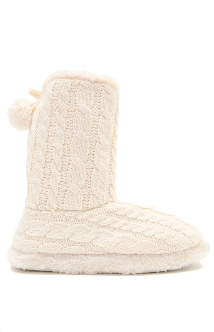 Cable Knit Slipper Boots Shoes Fav Thing Eva Pinterest