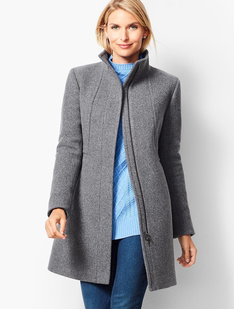 Wool Stadium Coat Talbots Wool Coat Women Wool Coat Coats For Women [ 1057 x 800 Pixel ]