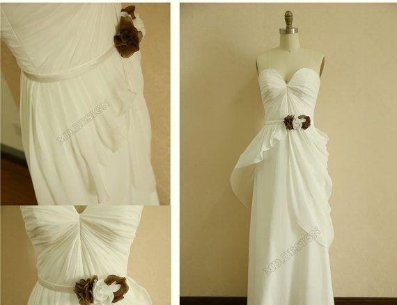 Vintage Inspired Beach Chiffon Wedding by misdress on Etsy, $129.00
