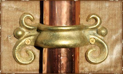 Ornamental Solid Brass Downspout Bracket Downspout Solid Brass Brass
