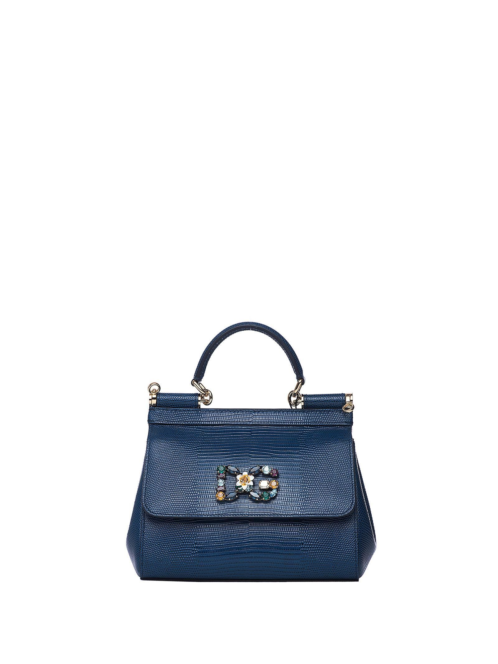 ea919275fa DOLCE & GABBANA DOLCE & GABBANA SICILY BLUE IGUANA PRINT LEATHER BAG WITH  DG LOGO. #dolcegabbana #bags #shoulder bags #hand bags #lining #leather  #crystal #