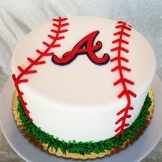 Braves Fan Cake Brave Birthday Cakes Brave Cakes Atlanta Braves Cake