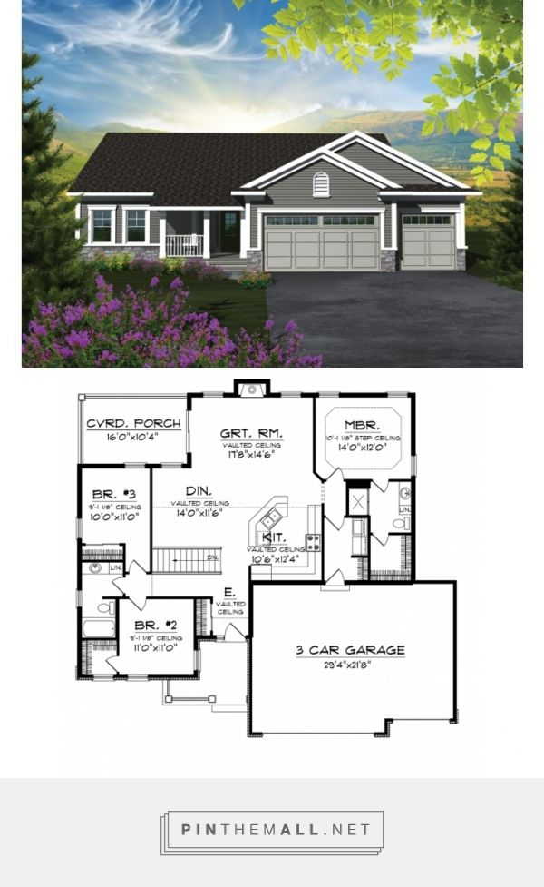 Traditional Style House Plan 3 Beds 2 Baths 1501 Sq Ft Plan 70 1131 New House Plans Craftsman Floor Plans Ranch House Plans
