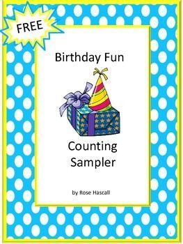 free birthday fun counting sampler birthday cut paste worksheets classroom birthday. Black Bedroom Furniture Sets. Home Design Ideas