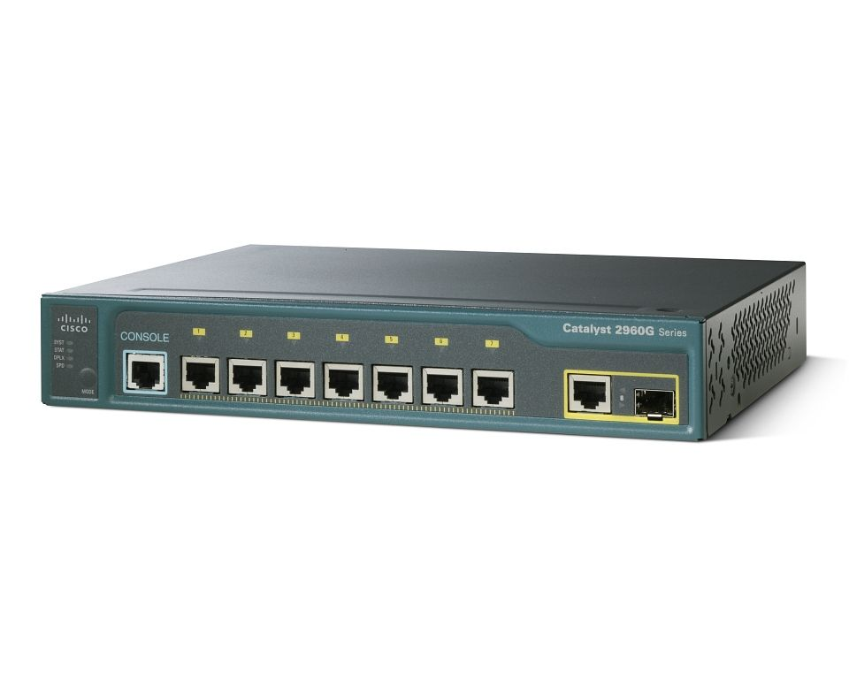 WS-C2960G-8TC-L, Cisco Catalyst switch 2960 7 10/100/1000 +