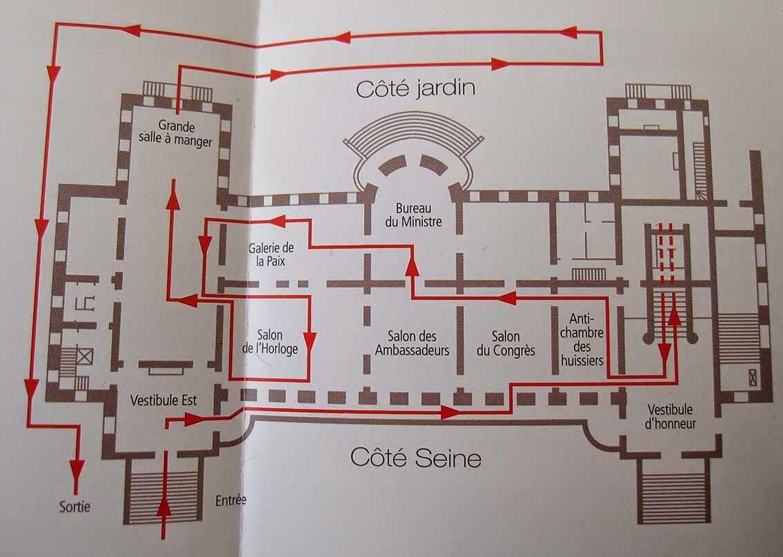 Ground floor plan ministère des affaires étrangères paris