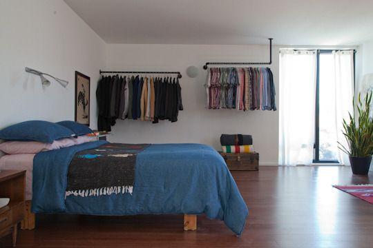 Iron Pipes Open Wardrobe Slaapkamer Huis Kast