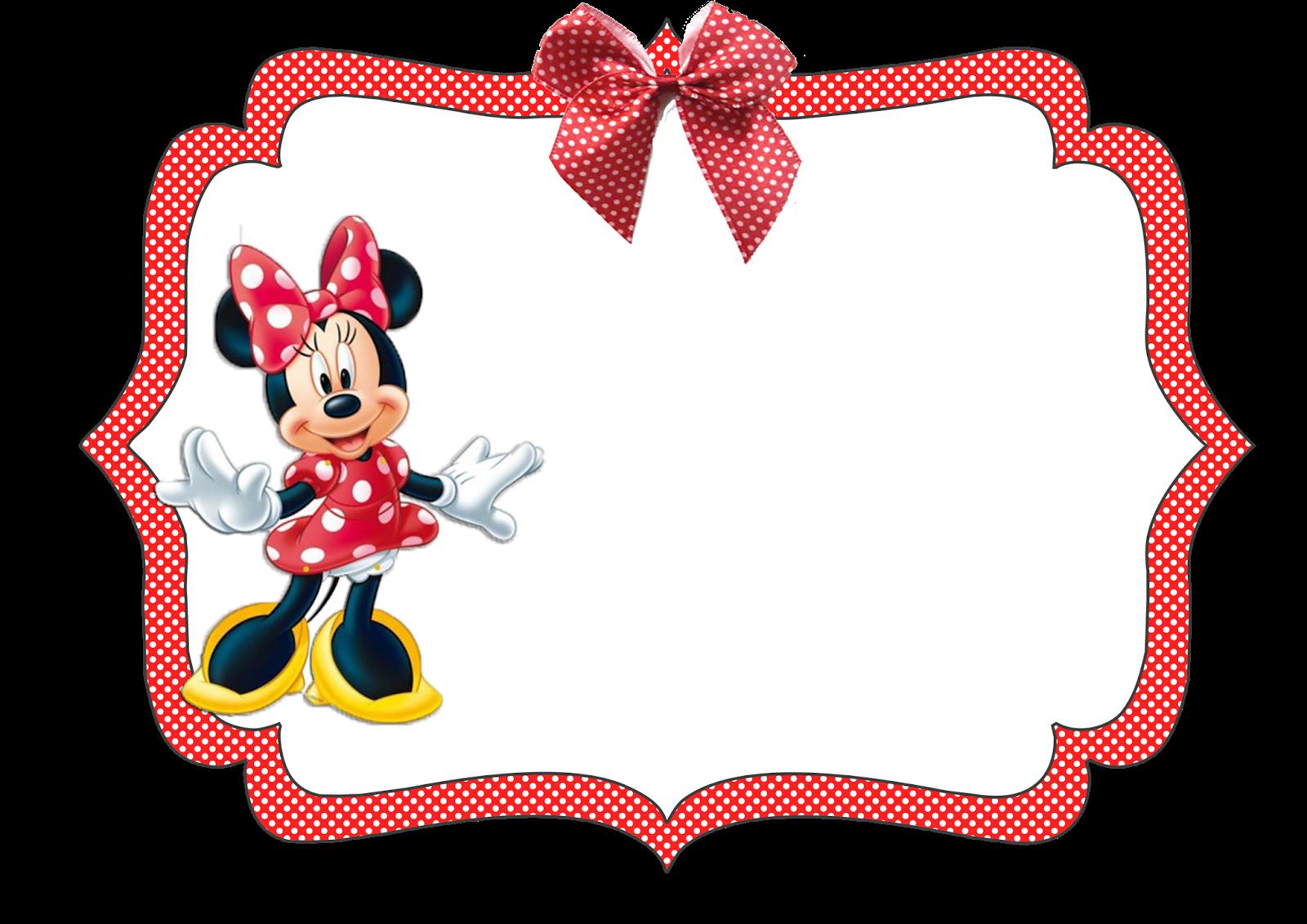 Kit Aniversário Personalizados Tema Minnie Vermelha Para Imprimir