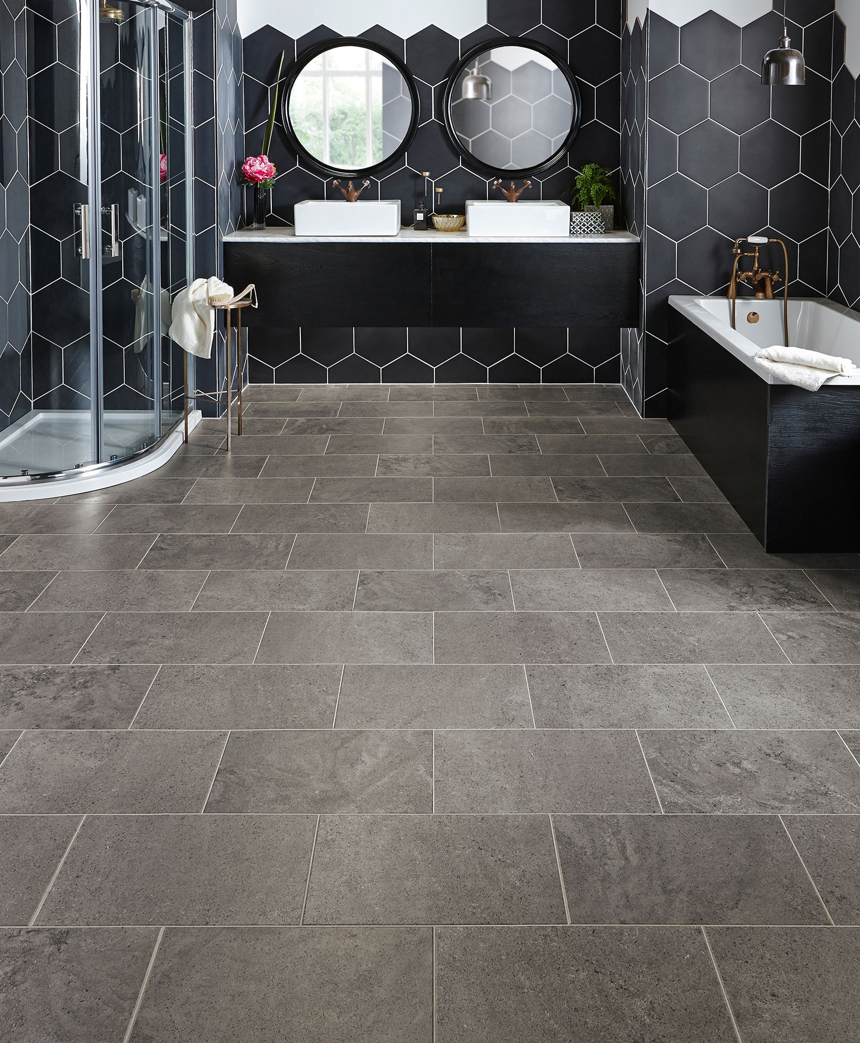 Karndean Flooring Looks And Feels Like Tiles But Is Much More Practical Available At Oldrids Downtown Bathroom Vinyl Vinyl Flooring Bathroom Vinyl Flooring