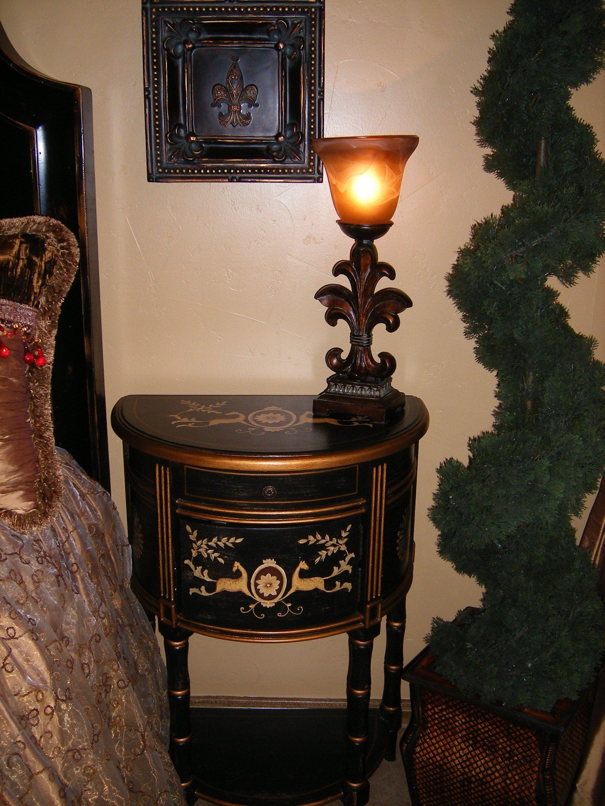 Nightstand Wall treatments, Furniture, Bedroom furniture