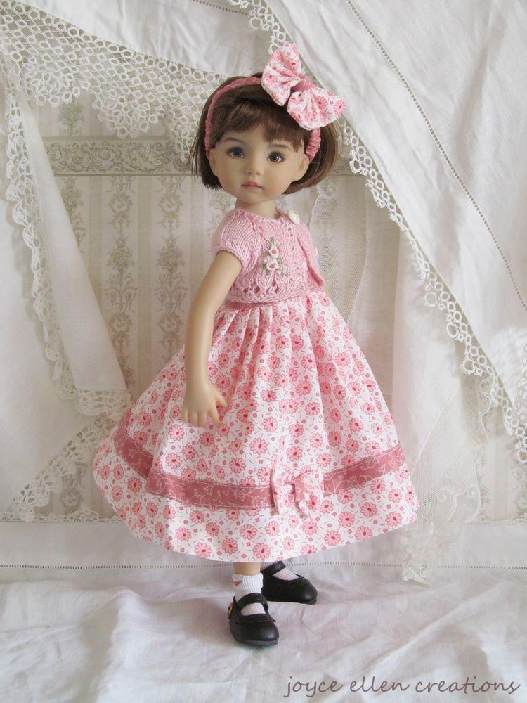 "13"" Effner Little Darling,BJD Pink & white 5 pc set OOAK handmade by JEC"