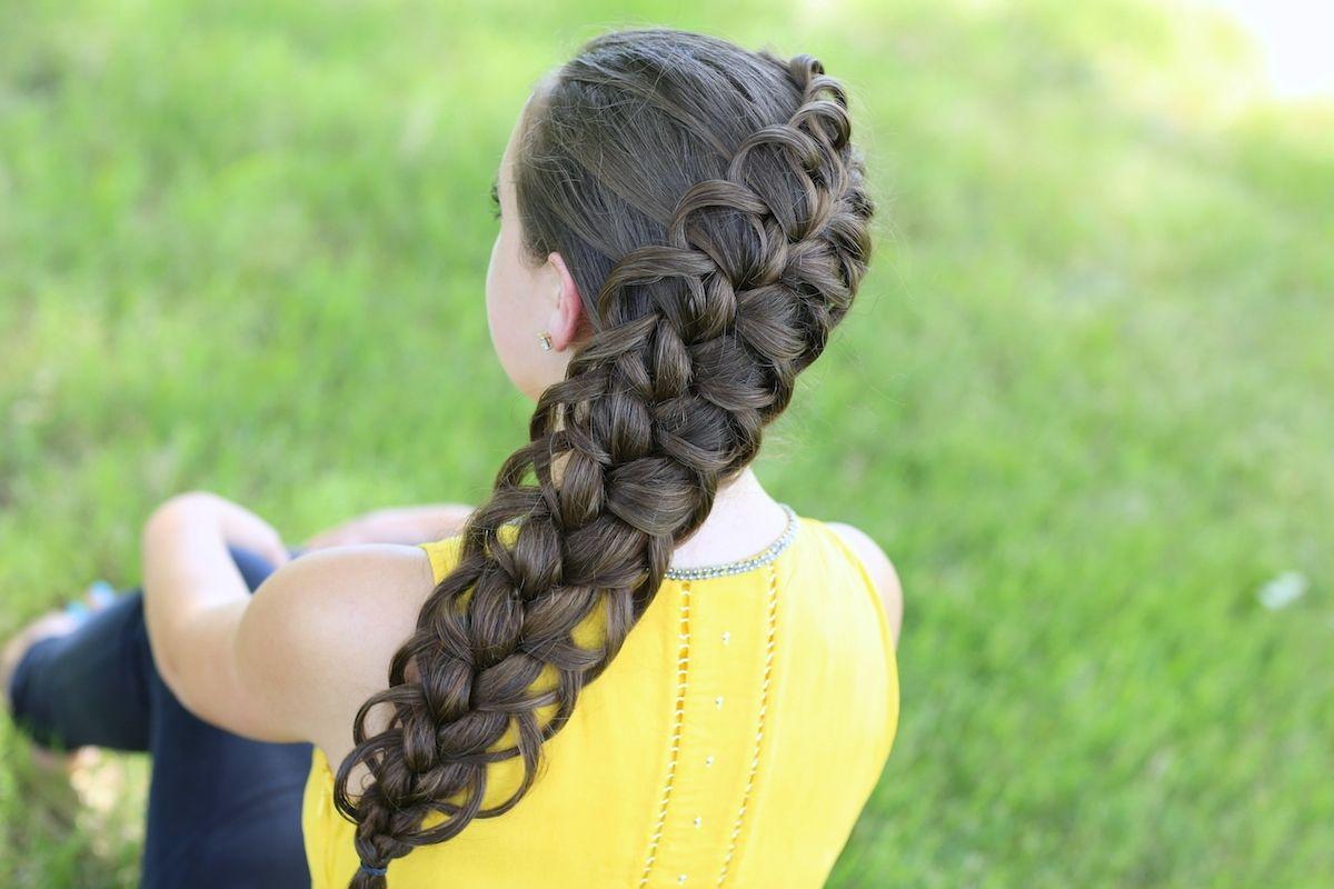 Diagonal french loop braid hairstyles ideas pinterest hair