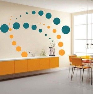 Contemporary Evolution Dots Wall Decals