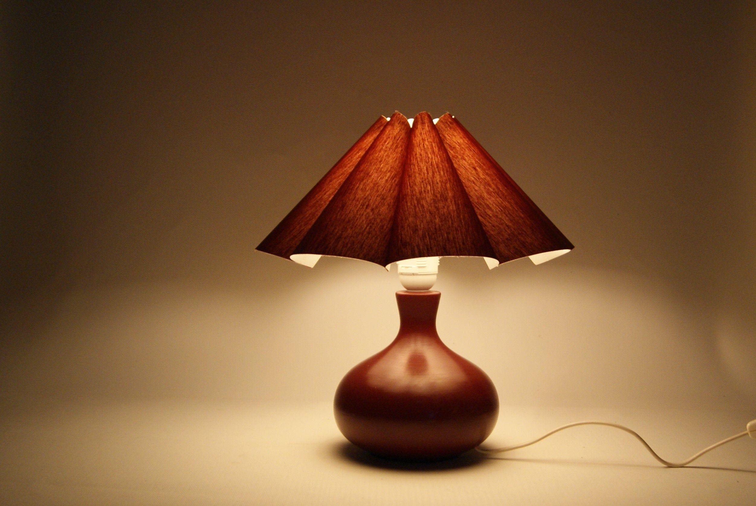 Vintage Burgundy Red Ceramic Table Lamp With Pleated Lamp Etsy Ceramic Table Lamps Lamp Ceramic Table