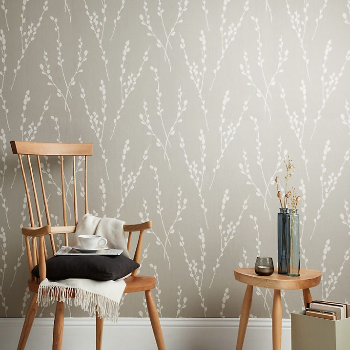 Buy John Lewis Croft Collection Catkin Wallpaper, Storm Online at ...