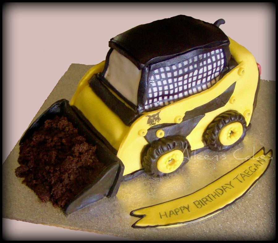 Bobcat Machine Cars Trucks Automobiles Chocolate Mud Cake Birthday Cake Kids Boy Birthday Cake