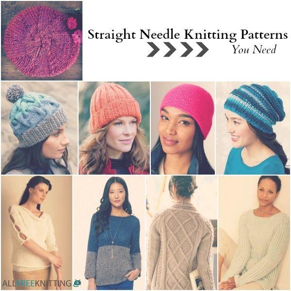 26 Straight Needle Knitting Patterns You Need   Knitting patterns ...