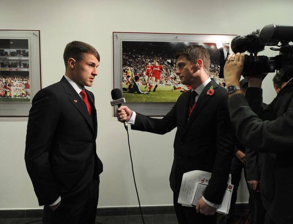 Ramsey Talks to Media Before Match vs Liverpool 2013-2014.