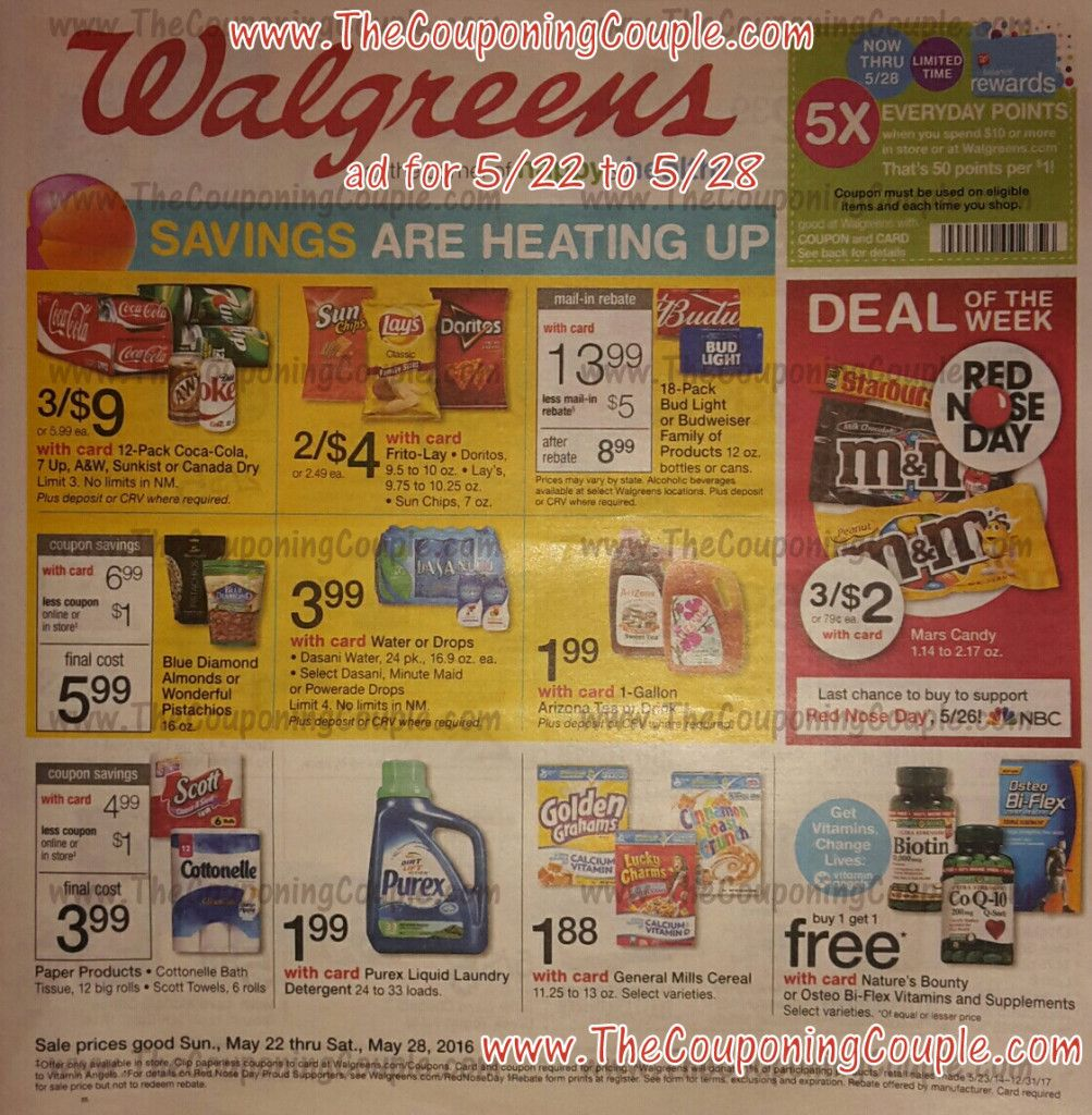Walgreens Ad Scan for 5-22 to 5-28-16 ~ BROWSE All 16 Pages! | Store