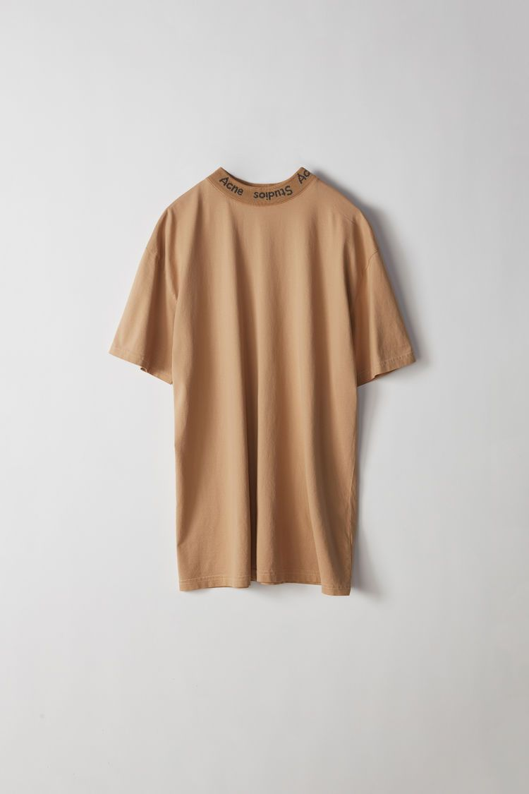 3ea8f30404d0 Acne Studios - Gojina Dyed camel beige oversized t-shirt. | TOPS ETC ...