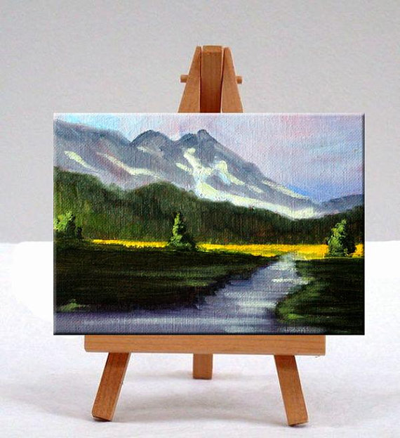 Small Original Landscape Oil Painting Mountain Scene Etsy In 2020 Landscape Oil Paintings Mountain Oil Painting Landscape Small Canvas Paintings