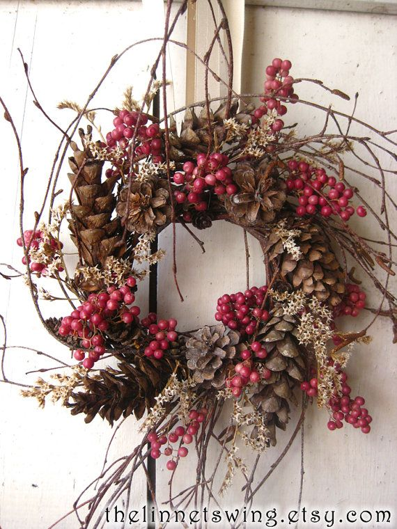 Photo of Nordic Natural Winter Wreath – Small Wreath – Gift – Natural Wreath