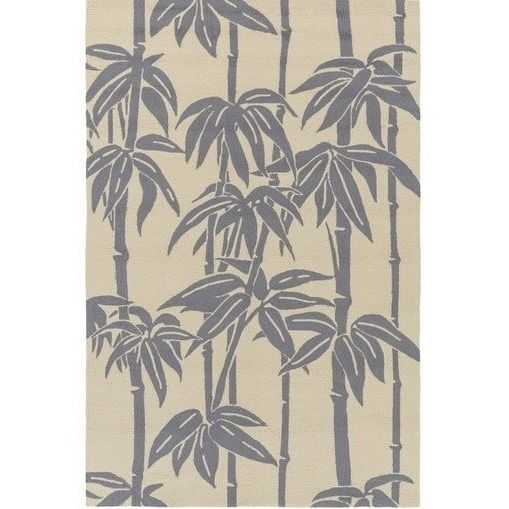 Bondi Gray Tropical Outdoor Rug