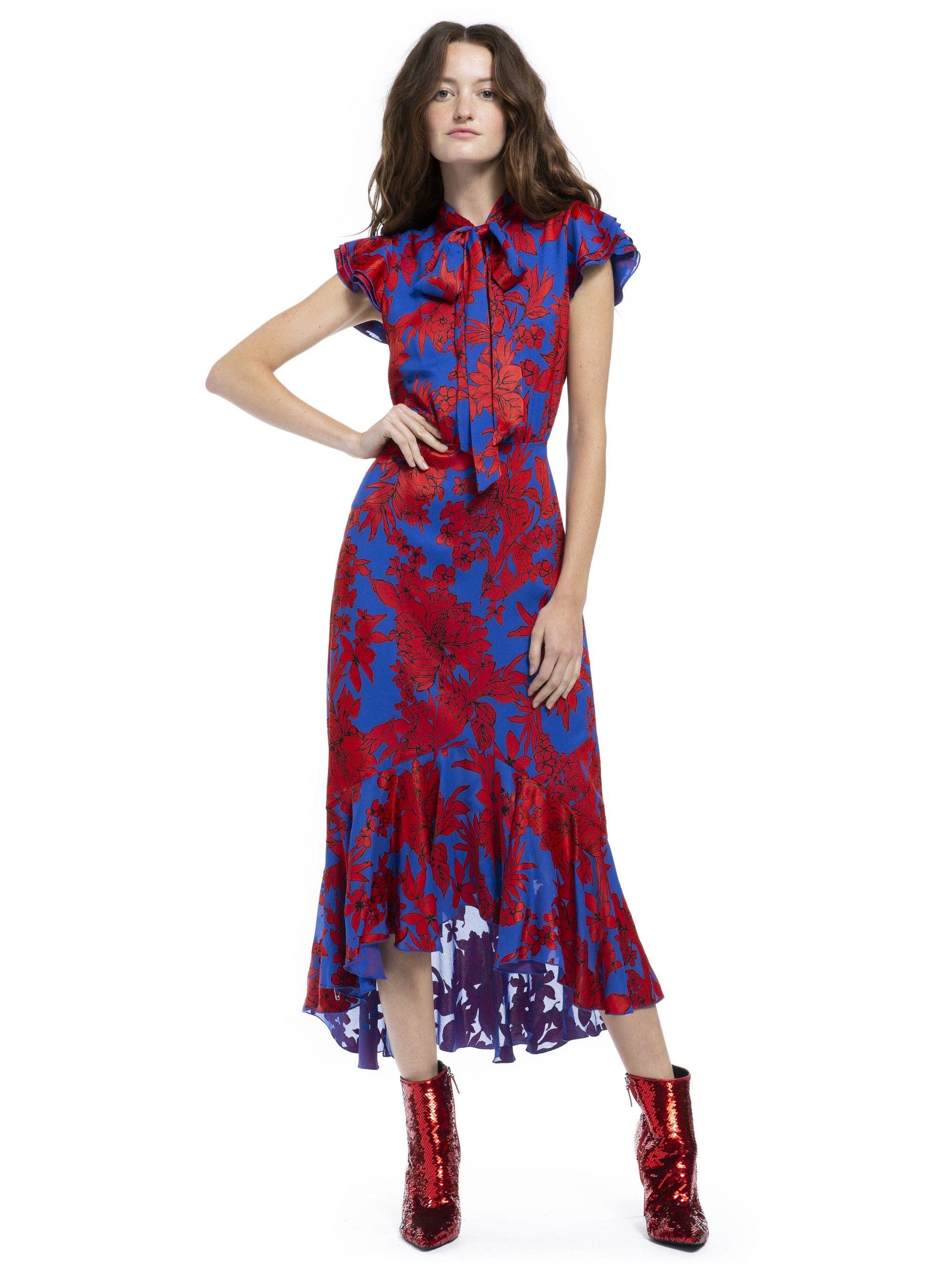 a8811eca60c Alice + Olivia Greta Ruffle Hem Midi Dress - Fancy Floral 2