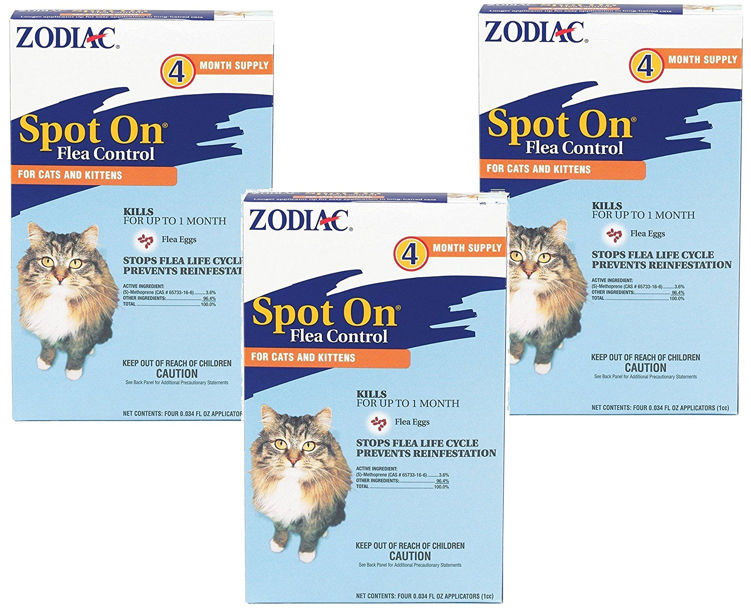 3 Pack Zodiac Flea And Tick Spot On For Cats And Kittens Each Pack Is A 4 Month Supply Want Additional Info Click Flea Control For Cats Cat Fleas Fleas